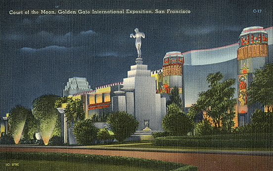 court of the moon golden gate international exposition treasure island 1939 postcard post card